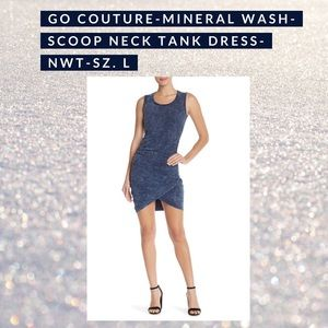 Go Couture Mineral Wash Tank Dress NWT sz. L